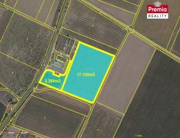 Prodej velkého pozemku u obce Hnanice